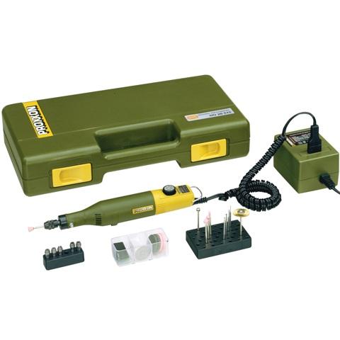 משחזת ציר חשמלית 12V - קיט 34 אביזרים - PROXXON 50/E PROXXON