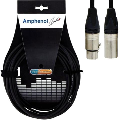 כבל הגברה מקצועי - XLR (M) ~ XLR (F) - 10M AMPHENOL AUDIO
