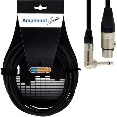 כבל הגברה מקצועי - XLR (F) ~ PL (M-R/A) - 25M AMPHENOL AUDIO
