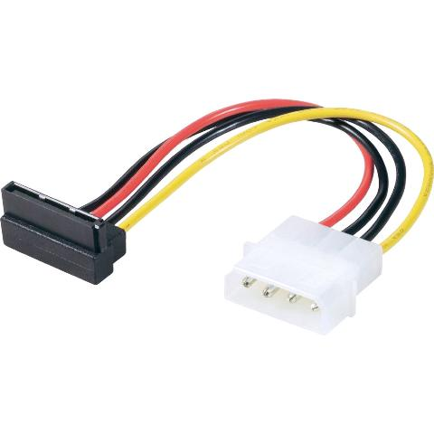 ROLINE 15P RIGHT ANGLE SATA TO 4P MOLEX CABLE