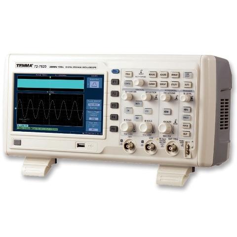 TENMA DIGITAL STORAGE OSCILLOSCOPE - 2CH 200MHZ 1GSPS - 72-7625