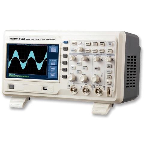אוסילוסקופ שולחני דיגיטלי - 2 ערוצים - 300HMZ - 2GSPS TENMA