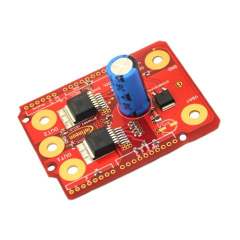 INFINEON DC MOTOR CONTROL SHIELD FOR THE ARDUINO UNO