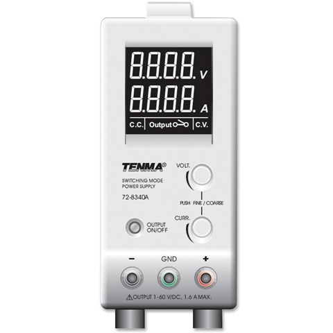 ספק כוח מעבדתי - SWITCHING - יציאה אחת - (0-60V / 0-1.6A) TENMA