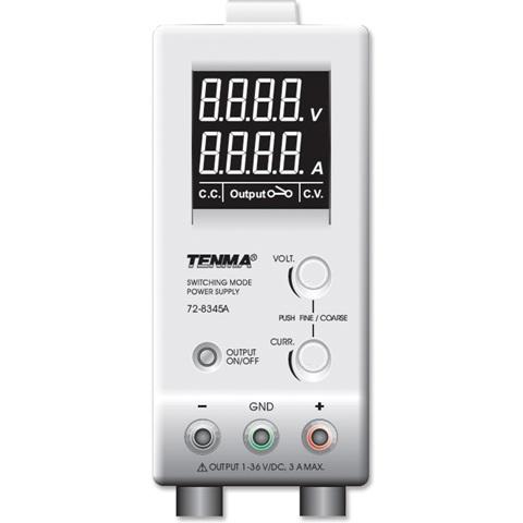 ספק כוח מעבדתי - SWITCHING - יציאה אחת - (0-36V / 0-3A) TENMA