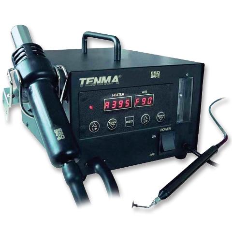 תחנת אוויר חם דיגיטלית משולבת ידית ואקום לרכיבי 500W - SMD TENMA