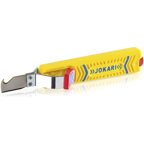 JOKARI ROUND CABLE STRIPPER WITH EXTERNAL KNIFE - 10280