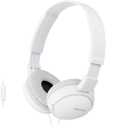 אוזניות HI-FI עם דיבורית  - SONY MDR-ZX110AP WHITE SONY