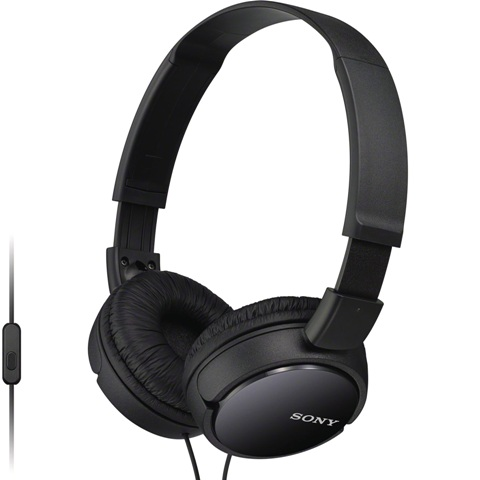 אוזניות HI-FI עם דיבורית  - SONY MDR-ZX110AP BLACK SONY