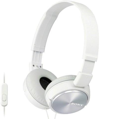 אוזניות HI-FI עם דיבורית  - SONY MDR-ZX310AP WHITE SONY