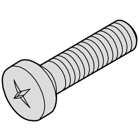 SCHROFF PAN HEAD POZIDRIVE SCREWS