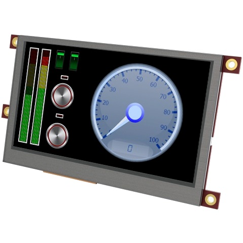 "4D SYSTEMS 3.2"" DISPLAY MODULE FOR THE RASPBERRY PI - ULCD-32PTU-PI"