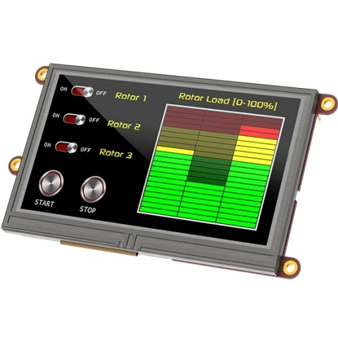"4D SYSTEMS 4.3"" DISPLAY MODULE FOR THE RASPBERRY PI - ULCD-43PT-PI"