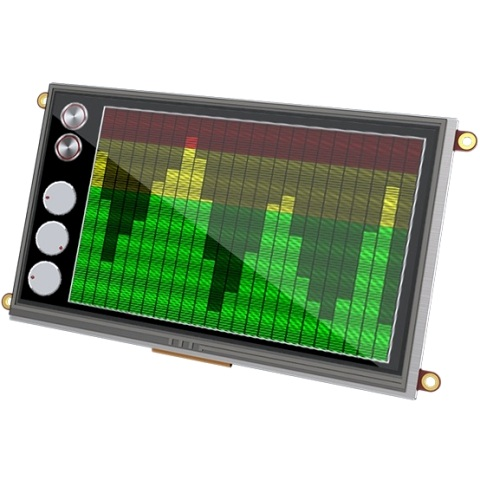 "4D SYSTEMS 7.0"" DISPLAY MODULE FOR THE RASPBERRY PI - ULCD-43PT-PI"