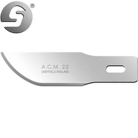 סט 5 להבים לסקלפל - SWANN MORTON ACM22 - עבור ידית NO.5 SWANN MORTON