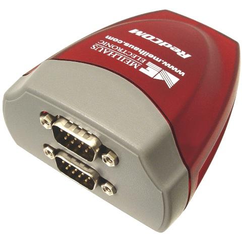 מתאם - (USB ~ 2XSERIAL (RS232 MEILHAUS ELECTRONIC