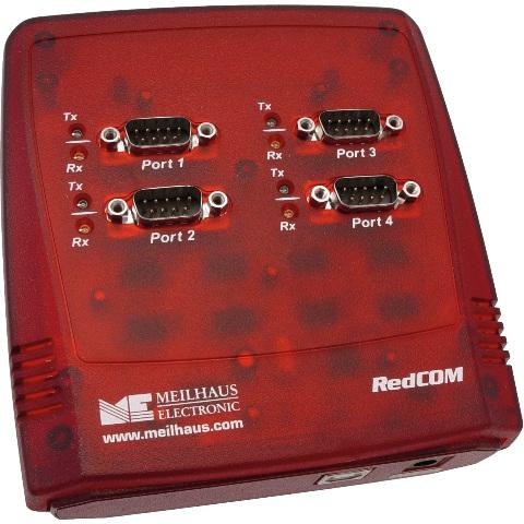 מתאם מבודד - (USB ~ 4XSERIAL (RS232 MEILHAUS ELECTRONIC