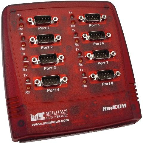 מתאם מבודד - (USB ~ 8XSERIAL (RS232 MEILHAUS ELECTRONIC