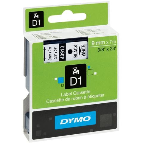 סרט פלסטיק דביק - 9MM X 7M - D1 - כחול / לבן DYMO
