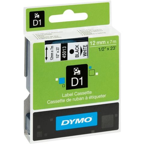 סרט פלסטיק דביק - 12MM X 7M - D1 - כחול / לבן DYMO