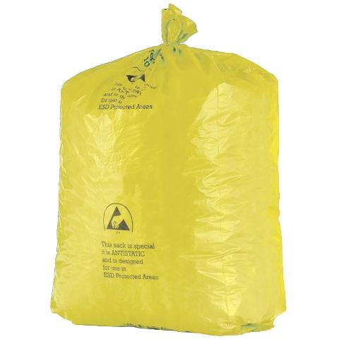 שקיות אשפה צהובות אנטי סטטיות - 900X735MM MULTICOMP