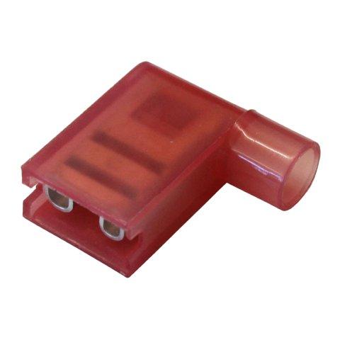 נעל כבל דגל בידוד מלא 6.3MM - אדום - 100 יחידות MULTICOMP