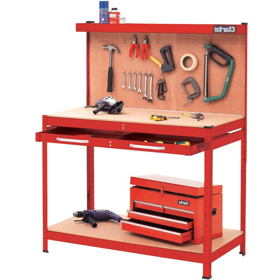 CLARKE WORKBENCH WITH DRAW AND PEGBOARD
