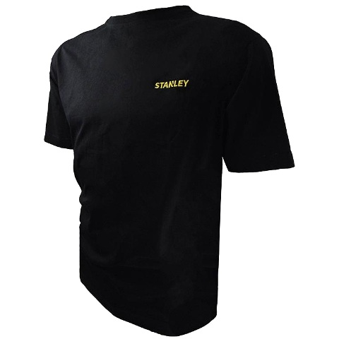 חולצת עבודה - טי שרט שרוול קצר - צבע שחור - מידה L STANLEY