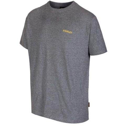 חולצת עבודה - טי שרט שרוול קצר - צבע אפור - מידה L STANLEY