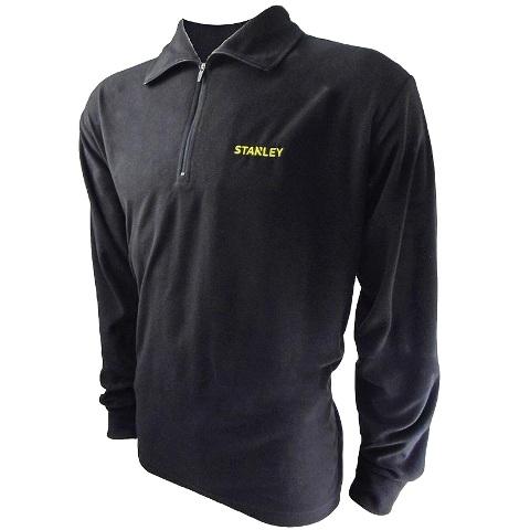 חולצת עבודה - פליז שרוול ארוך עם צווארון - צבע שחור - מידה XXL STANLEY