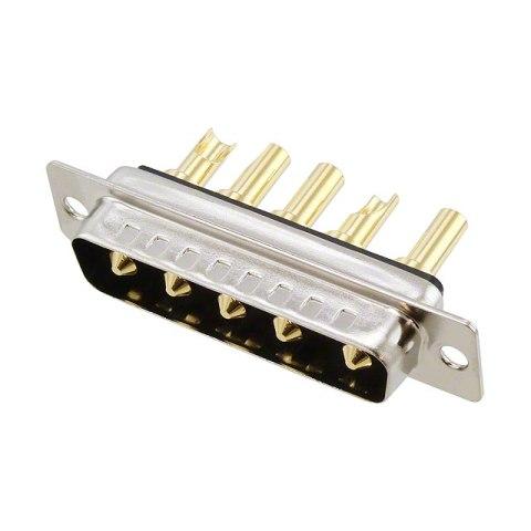 מחבר D-TYPE COMBO - זכר להלחמה לכבל - 40A - DB-5W5 NORCOMP