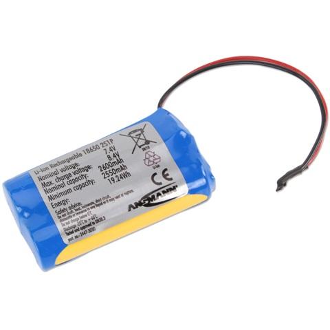 סוללת ליתיום נטענת עם חוטי הלחמה - 7.4V / 2.6AH ANSMANN