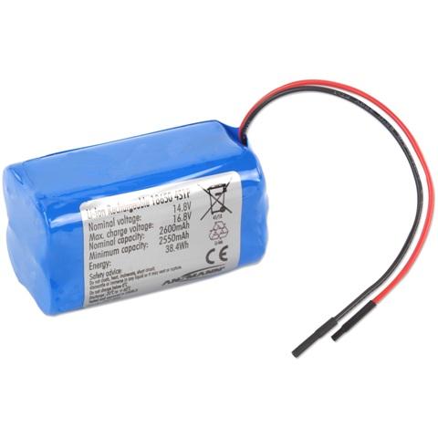 סוללת ליתיום נטענת עם חוטי הלחמה - 14.8V / 2.6AH ANSMANN