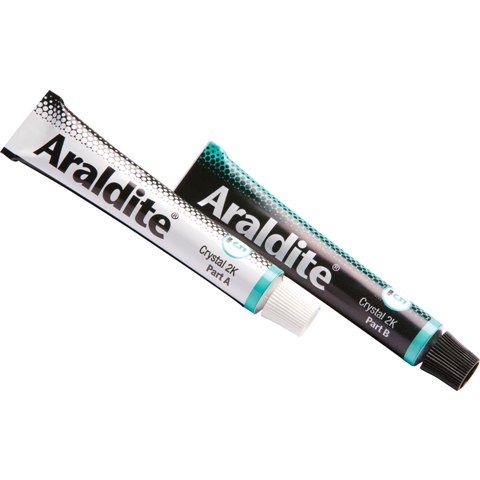 ARALDITE EPOXY ADHESIVE - RAPID CRYSTAL - 2X15ML TUBE - ARA400008