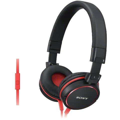 אוזניות HI-FI עם דיבורית  - SONY MDR-ZX610AP RED SONY