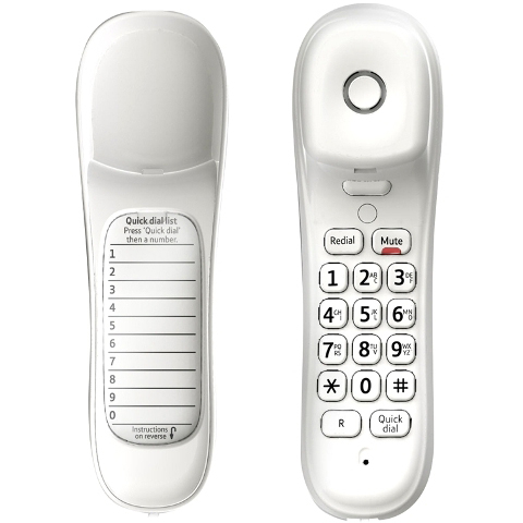 BRITISH TELECOM CORDED PHONE - BT DUET 210