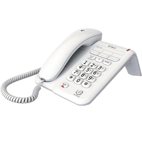 BRITISH TELECOM CORDED PHONE - BT DECOR 2100