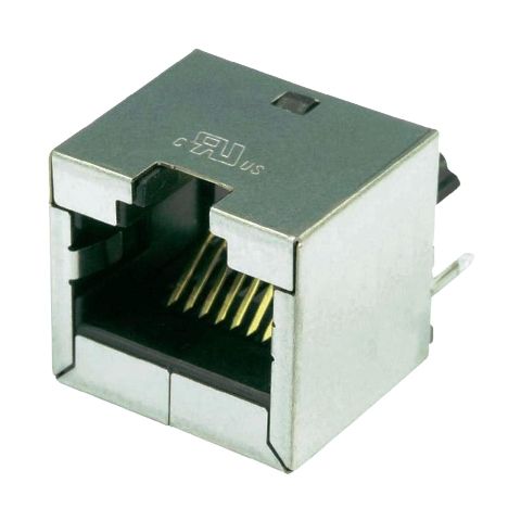 מחבר מסוכך RJ45 - נקבה למעגל מודפס - SS-60300-016 - CAT6A STEWART CONNECTOR