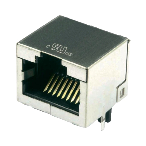 מחבר מסוכך RJ45 - נקבה למעגל מודפס - SS-60300-010 - CAT6A STEWART CONNECTOR