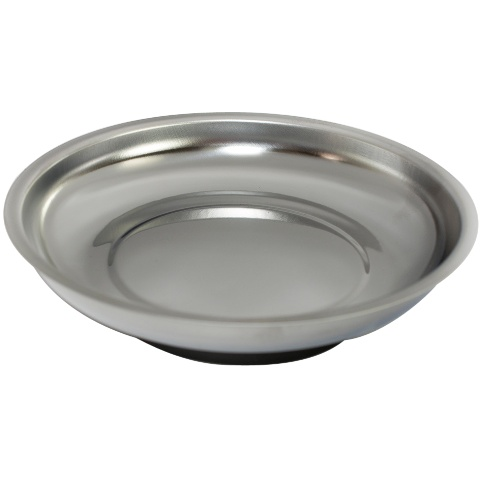 """DURATOOL 6"""" STAINLESS STEEL MAGNETIC DISH"""