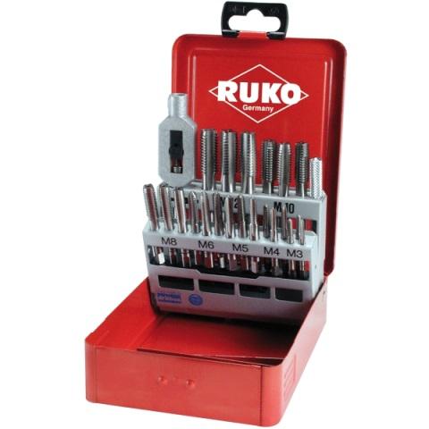 RUKO HSS HAND TAP SETS IN STEEL CASE