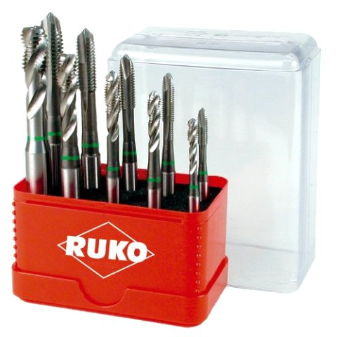 RUKO HSS MACHINE TAP SET IN STEEL CASE