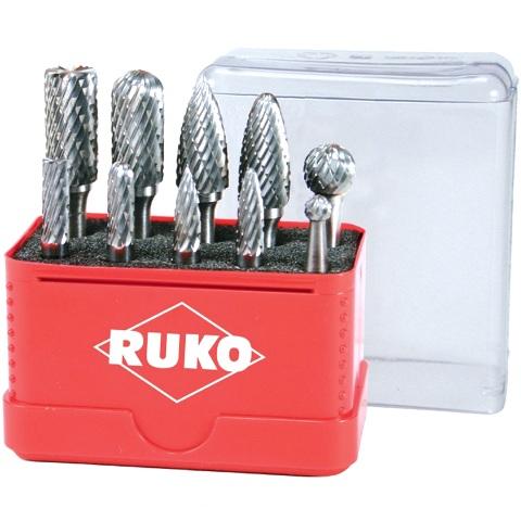 סט פצירות מסתובבות להורדת גרדים - 10 יחידות RUKO