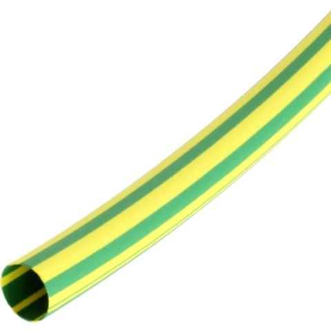 בידוד מתכווץ ירוק / צהוב 12.7MM - גליל 100 מטר PRO-POWER