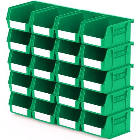סט 20 תאי אחסון מודולריים ירוקים - 135MM X 105MM X 75MM APEX LINVAR