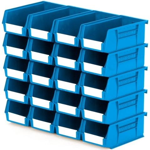 סט 20 תאי אחסון מודולריים כחולים - 190MM X 105MM X 75MM APEX LINVAR
