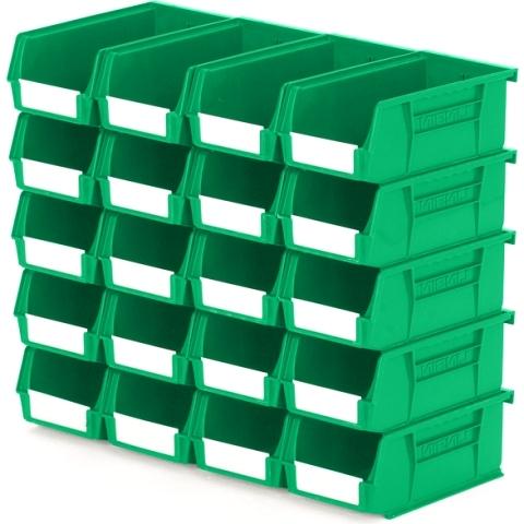 סט 20 תאי אחסון מודולריים ירוקים - 190MM X 105MM X 75MM APEX LINVAR