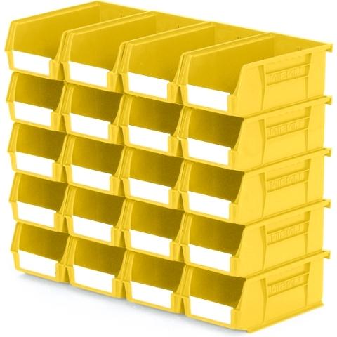 סט 20 תאי אחסון מודולריים צהובים - 190MM X 105MM X 75MM APEX LINVAR