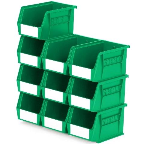 סט 10 תאי אחסון מודולריים ירוקים - 210MM X 140MM X 130MM APEX LINVAR