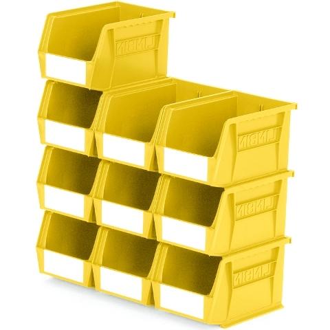 סט 10 תאי אחסון מודולריים צהובים - 210MM X 140MM X 130MM APEX LINVAR